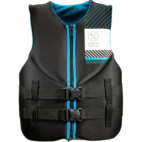 Hyperlite Men's Indy Blue/Black Neo Vest - Front