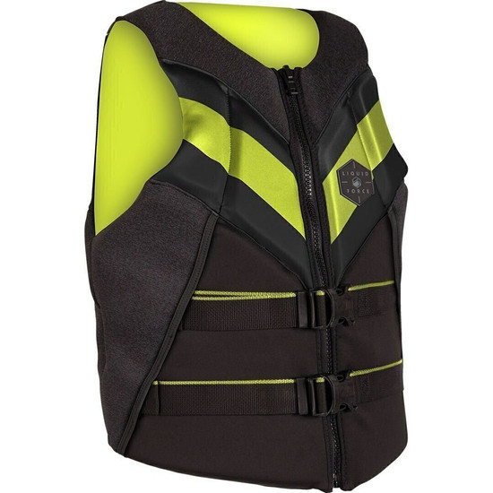 Liquid Force Rush Life Jacket - Black/Lime