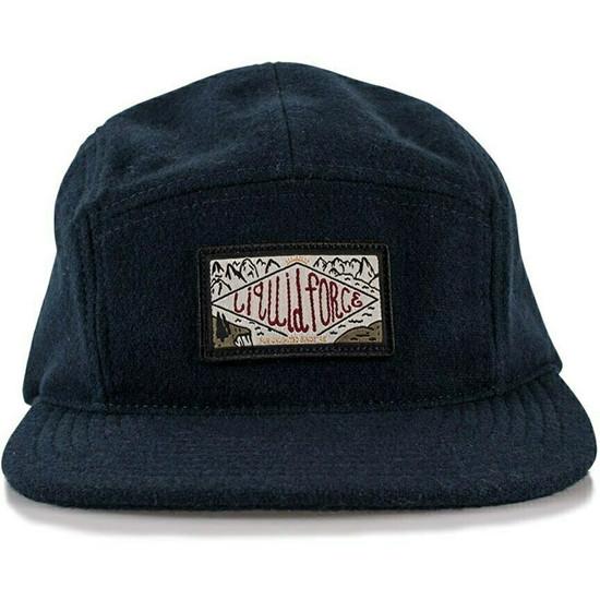 Liquid Force Cove Leather Strapback Hat - Navy