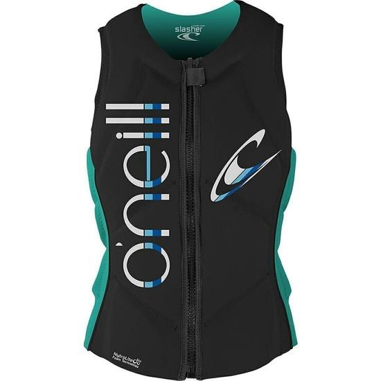 O'neill Slasher Comp Vest - Light Aqua - Front