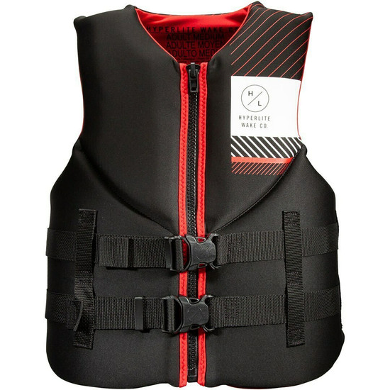 Hyperlite Men's Indy Black/Red Neo Vest - Front
