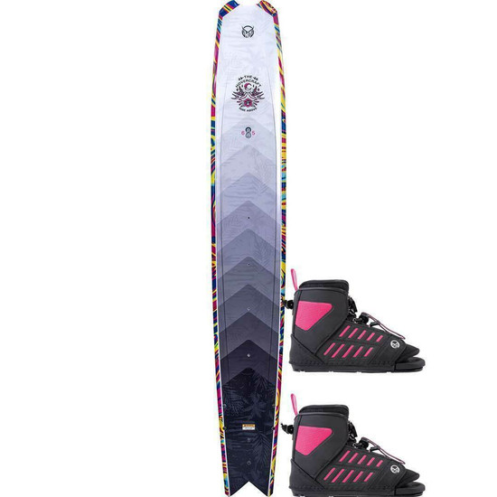 HO Women's Hovercraft Water Ski w/ Double Women's FreeMax Bindings - 2021