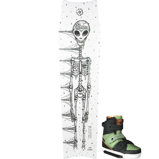 Slingshot Space Tomb Wakeboard Package W/ KTV Boots - 2021