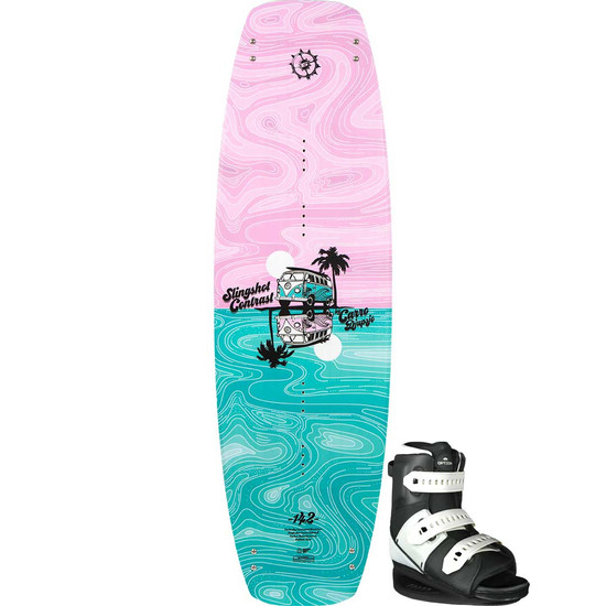 Slingshot Contrast Women's Wakeboard Package W/ Option Boots - 2021
