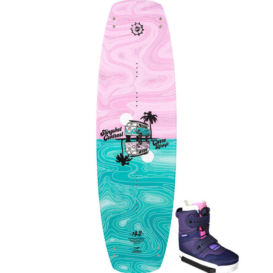 Slingshot Contrast Women's Wakeboard Package W/ Jewel Boots - 2021