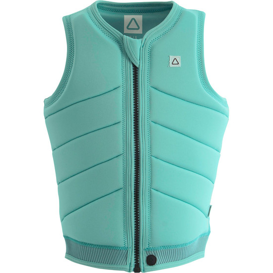 Follow Primary Ladies Comp Vest - Aqua Front