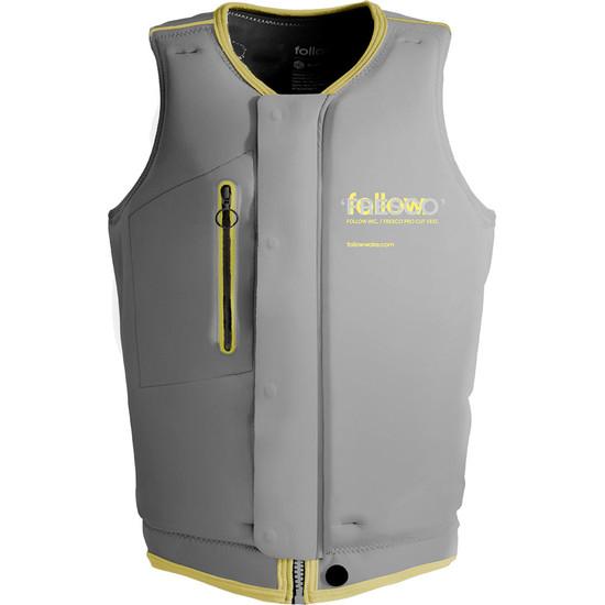 Follow Fresco Men's Comp Vest - Lemon Front