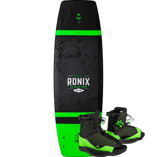 Ronix District 129 Wakeboard Package w/ District Boots - 2021