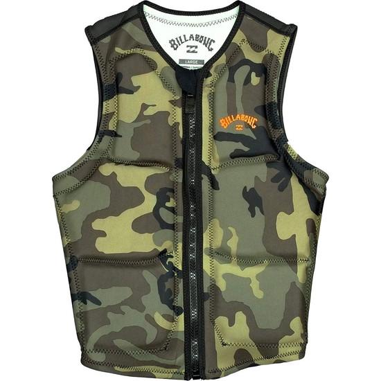 Billabong Pro Wake Comp Vest - Military Camo