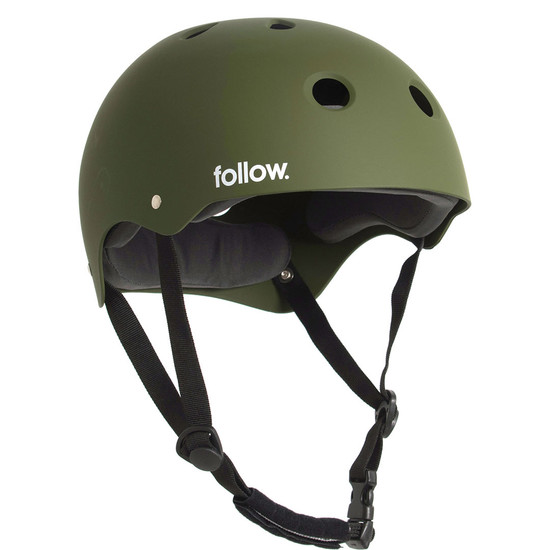 Follow Safety First Wakeboard Helmet - Olive