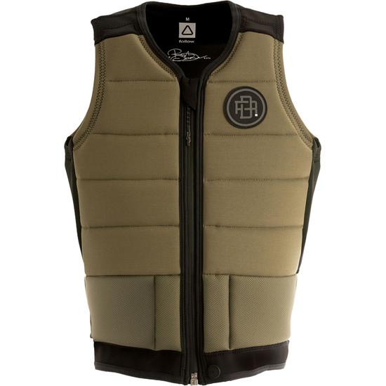 Follow RD Comp Vest - Olive - Front