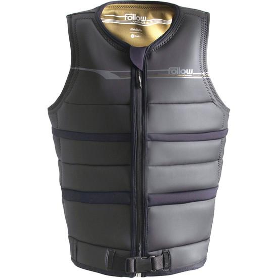 Follow Origins Comp Vest - Black - Front View