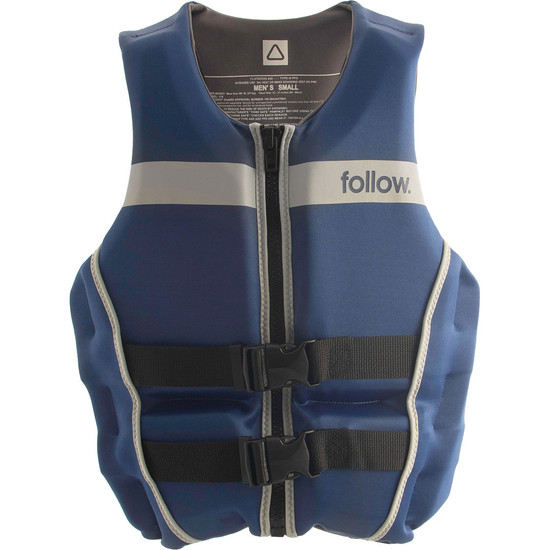Follow Tact Men's Life Jacket - Navy - Front View