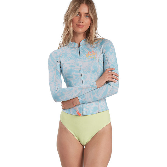 Billabong Women's 2mm Peeky Wetsuit Jacket - Island Blue Neo