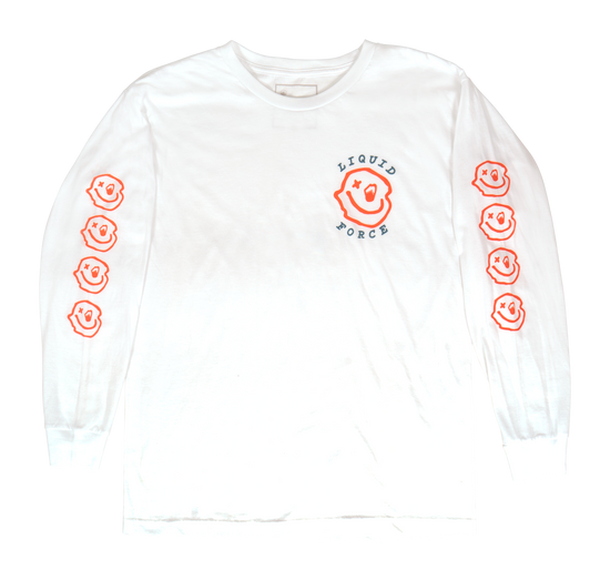 Liquid Force Melted Long Sleeve Tee - White