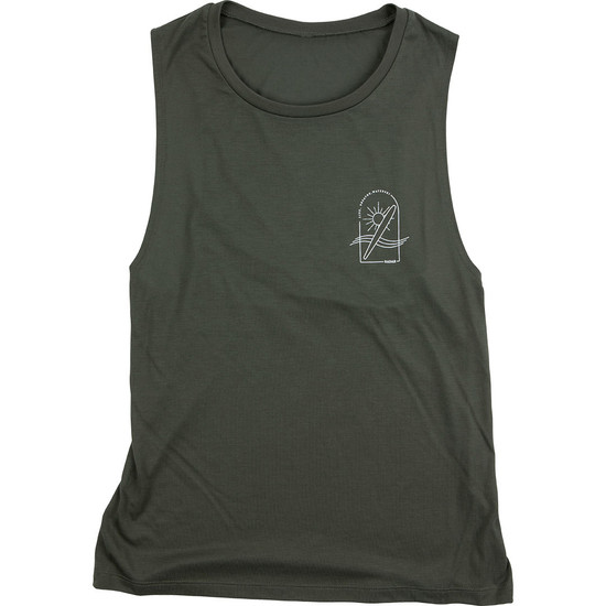 Radar Lyric Women's Tank - Military Green