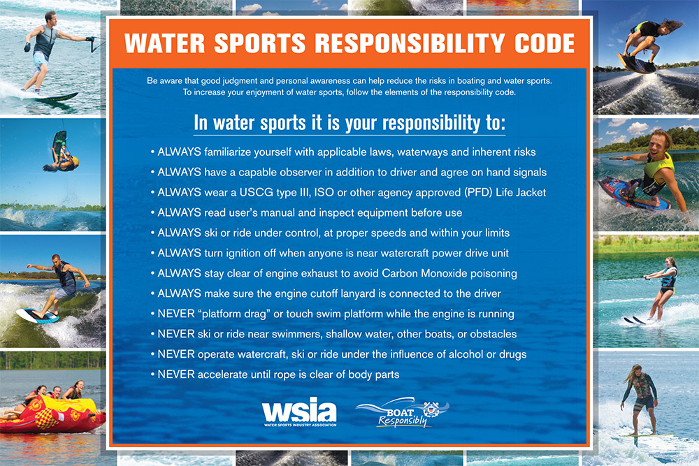 water sports responsibility code