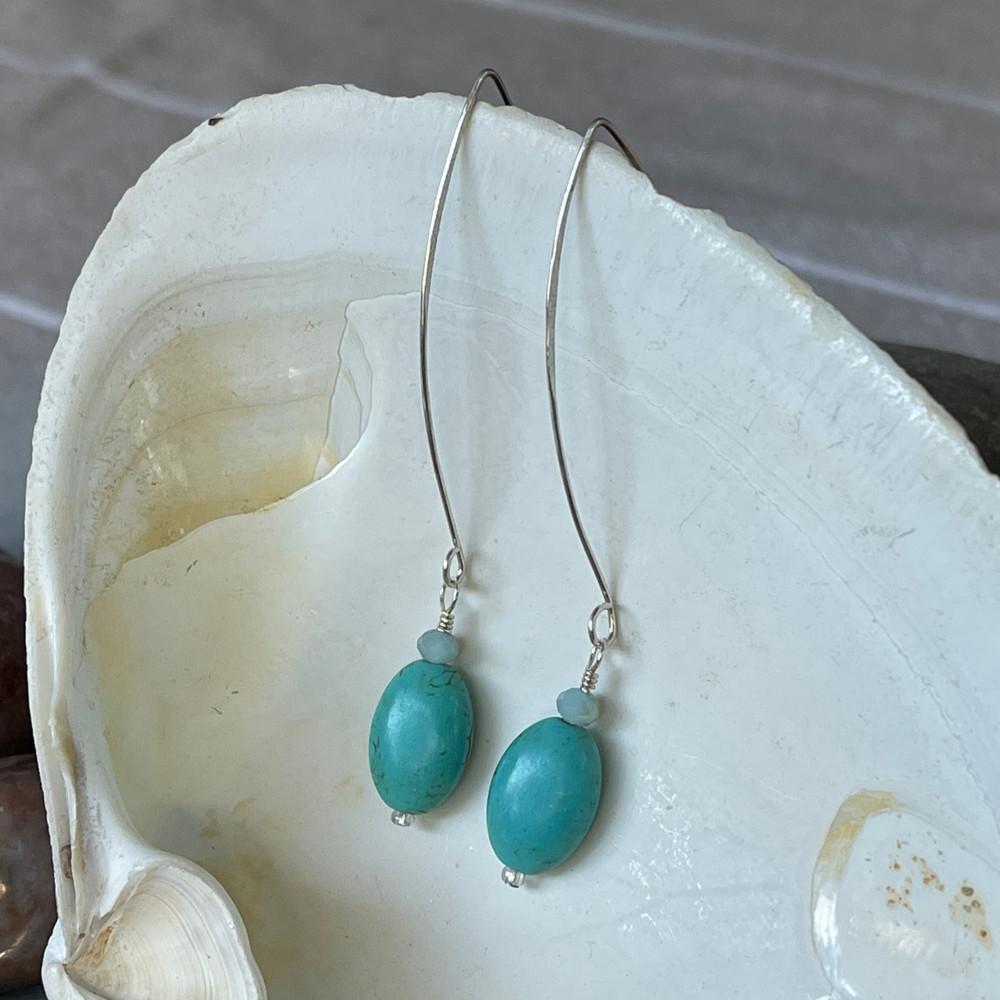 Turquoise Water Earrings