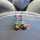 Seafoam Copper Earrings