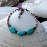 Turquoise Howlite Trio Bracelet