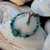 Howlite Turtle Bracelet