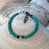 Hematite and Turquoise Bracelet