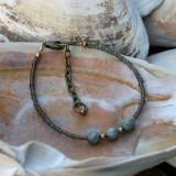 Gray & Brass Bracelet