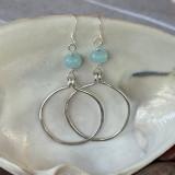 Aquamarine Hoops Earrings