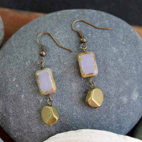 Lavender Nugget Earrings