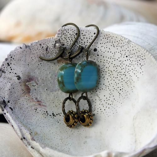 Blue Morning Earrings