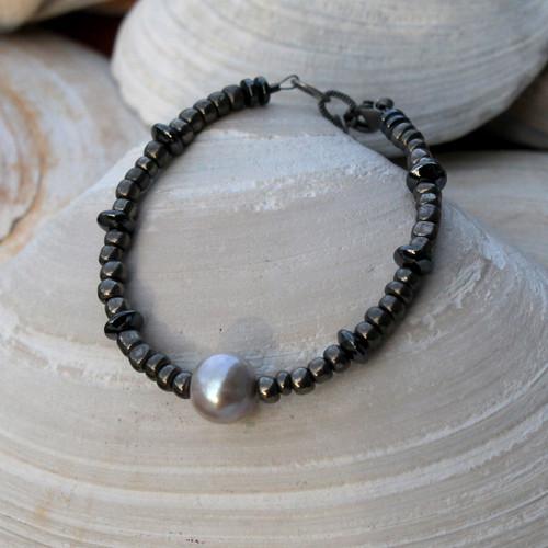 Pearl Hematite Bracelet