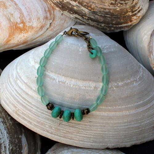 Green Czech Bracelet