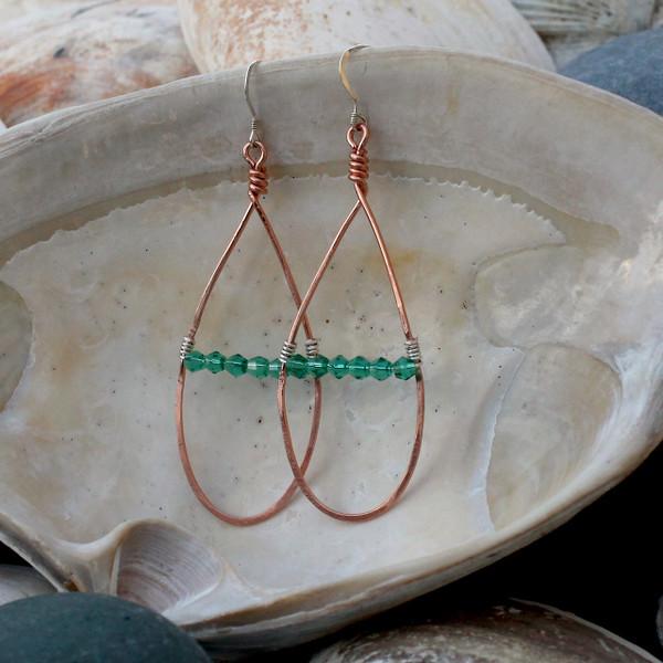 Sweet Green Teardrop Earrings