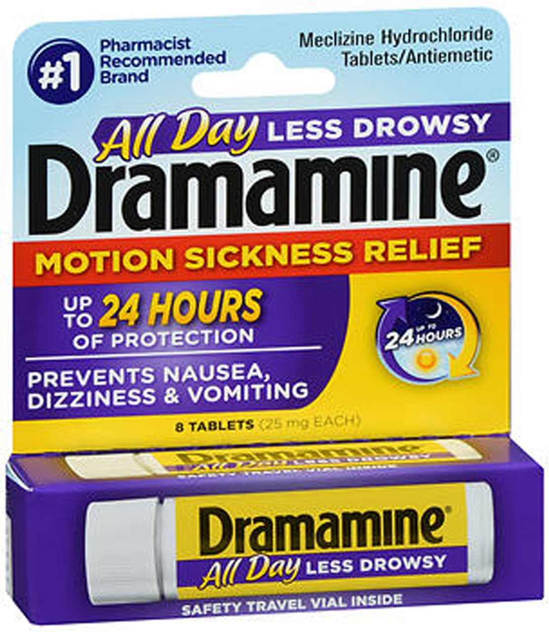 Dramamine Motion Sickness Relief Less Drowsy Formula 8