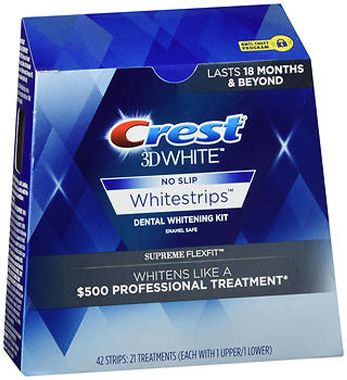 Crest 3d No Slip Whitestrips Dental Whitening Kit Supreme Flexfit