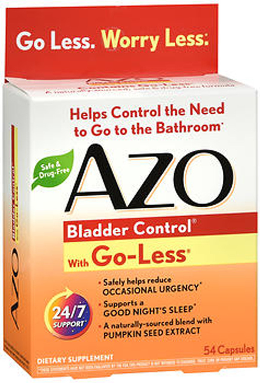 Azo Bladder Control >> Azo Bladder Control With Go Less Supplement Capsules 54 Capsules