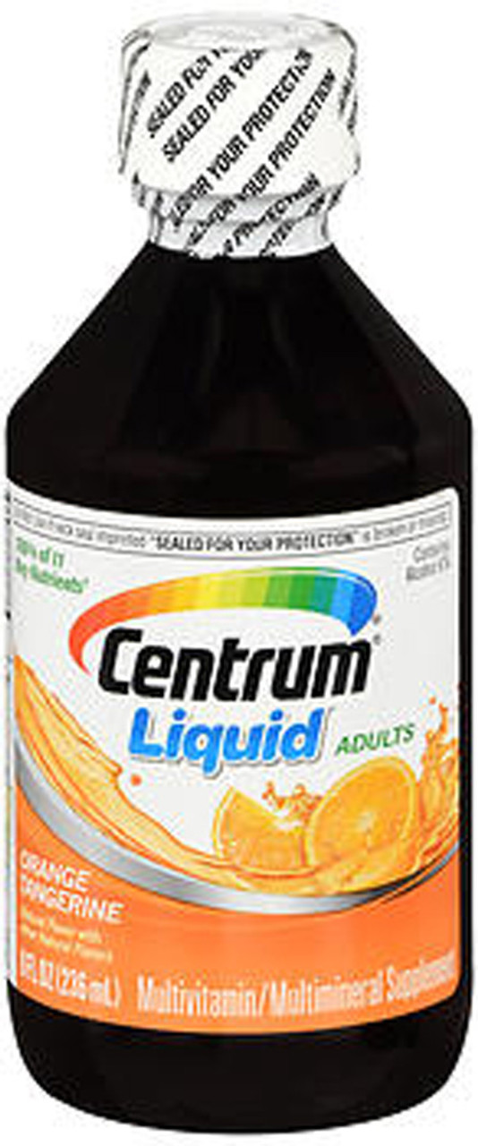 Centrum Multivitamin Multimineral Liquid Citrus 8 Oz The Online Drugstore C