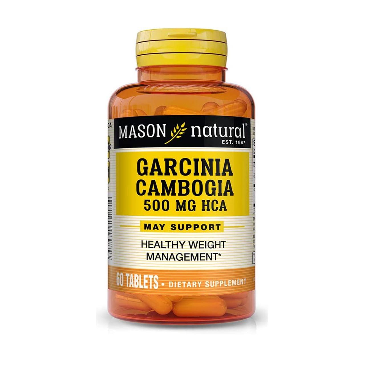 Mason Natural Garcinia Cambogia 500 Mg Tablets 60 Tablets The