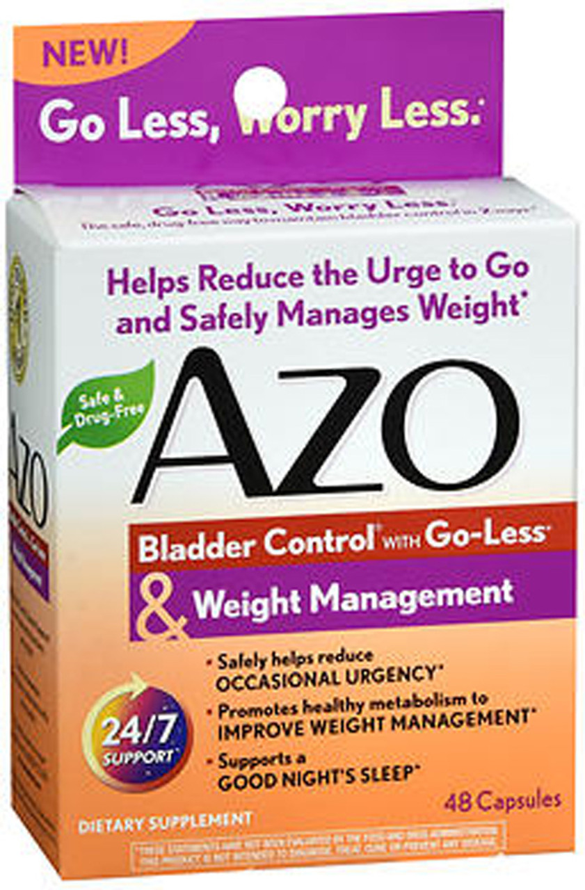 Azo Bladder Control >> Azo Bladder Control With Go Less Weight Management Dietary Supplement Capsules 48 Ct