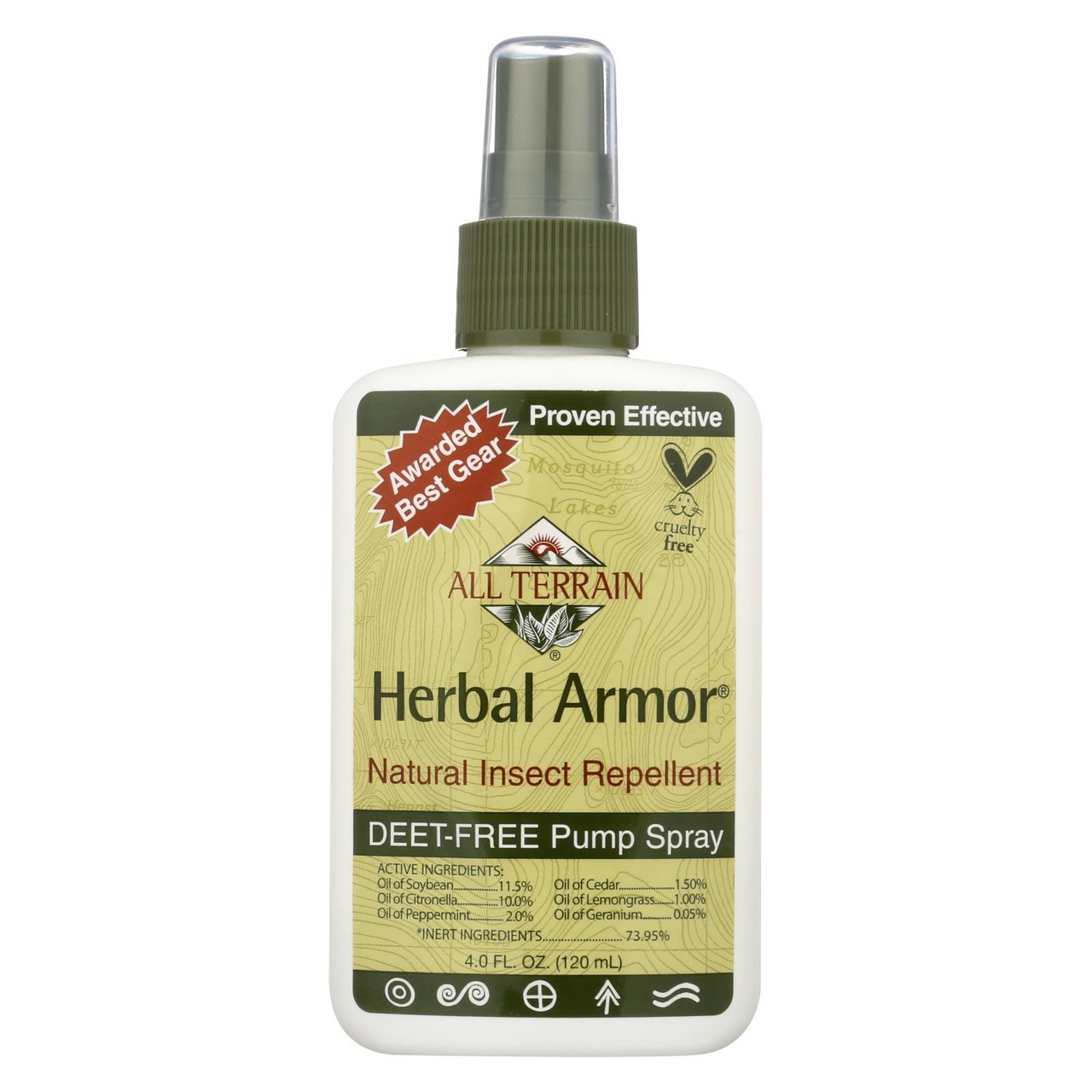 All Terrain Herbal Armor Natural Insect Repellent 4 Fl Oz The