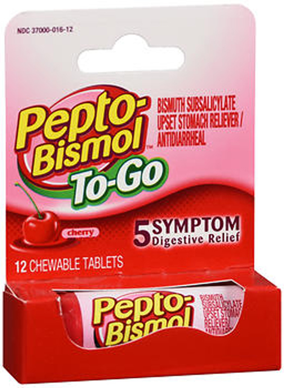 Pepto-Bismol To-Go Chewable Tablets Cherry - 12 ct - The