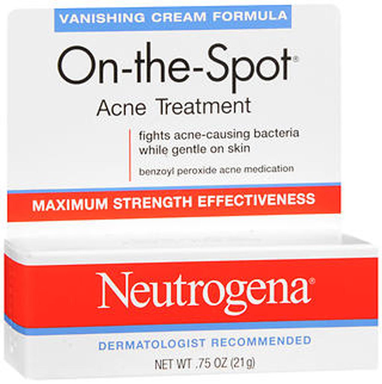 Neutrogena On The Spot Acne Treatment Vanishing Cream 0 75 Oz