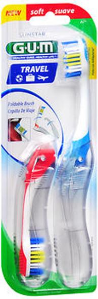 GUM Travel Toothbrush Soft - 2 each