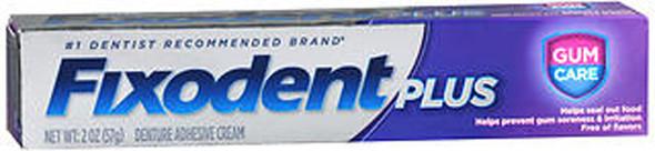 Fixodent Plus Denture Adhesive Cream Gum Care - 2 oz