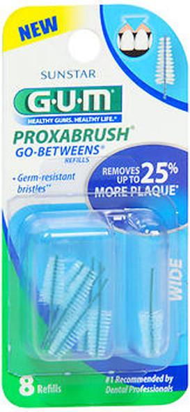 GUM Go-Betweens Proxabrush Refills Wide - 8 ct