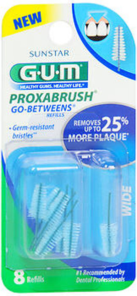 GUM Go-Betweens Proxabrush Refills Wide - 8 ct