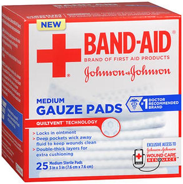 "Johnson & Johnson Red Cross Hospital Grade Gauze Pads 3""x3"" - 25 ct"
