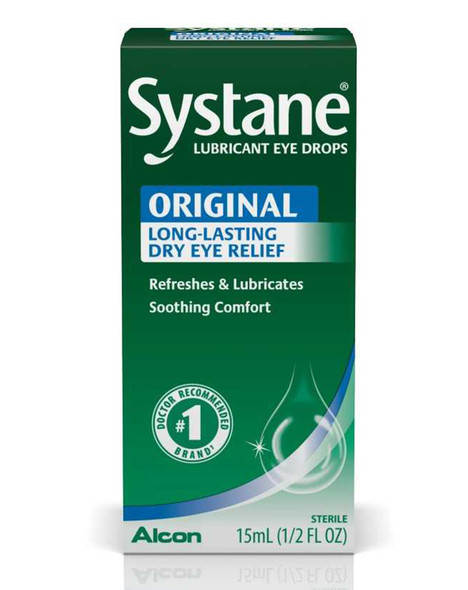 Systane Long Lasting Lubricant Eye Drops - 0.5 oz