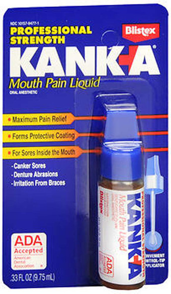 Kank-A Mouth Pain Liquid Professional Strength - .33 oz