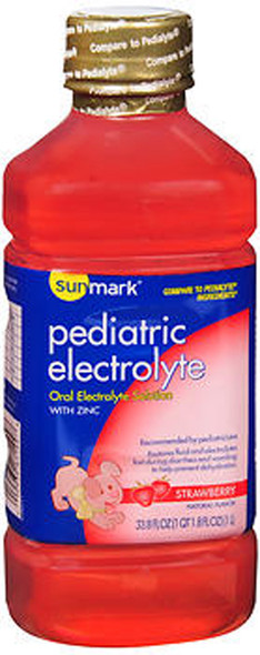 Sunmark Pediatric Electrolyte, Oral Solution, Strawberry Flavor - 33.8 oz